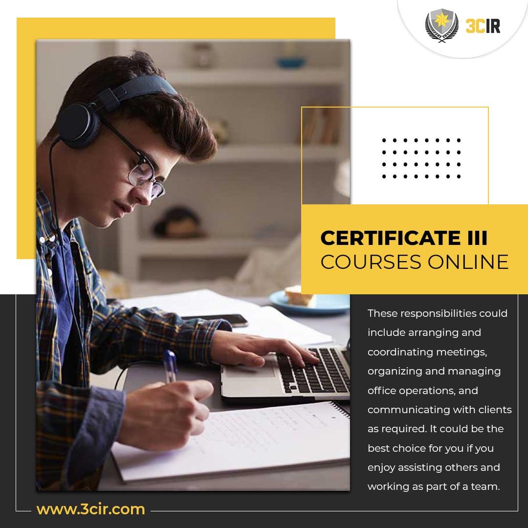 Certificate III courses online